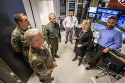 General Mercier visits Joint Warfare Centre