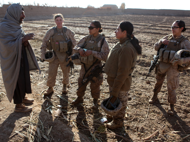 <b>Use Women In Operations.</b> A Female Engagement Team (FET) member established excellent rapport with a farmer in during repeated visits to his farm. The farmer was thrilled to talk to someone who shared his enthusiasm for his crop. As they continued talking, the man revealed that he had information about the Taliban and security threats in the area.