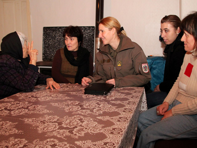 <b>Listen To What Men and Women Have To Say.</b> It was brought to the attention of KFOR that in the multi-ethnic neighbourhood of North Mitrovica, Kosovo, a particular group felt unsafe due to stone throwing. It was principally the women who requested that KFOR show a stronger presence and asked for night time patrols.