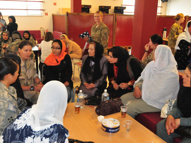 <b>Provide Separate Facilities For Men And Women.</b> In Afghanistan, the lack of female interpreters made it very difficult to communicate effectively with Afghan women, ensuring that their full needs and views were taken into account. One of the demands made by most female Afghan interpreters was separate accommodation and toilets/bathrooms for men and women.
